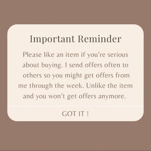 Reminder to buyers on poshmark